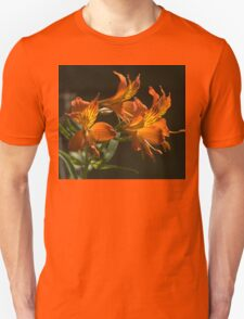 Orange Lilies with black background. T-Shirt