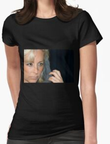 Blond Woman Womens Fitted T-Shirt