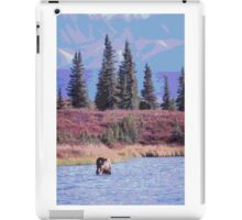 Scenic Alaska moose in water iPad Case/Skin