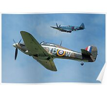 Hawker Hurricane and Supermarine Spitfire Poster