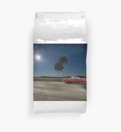 The Red Cadillac Duvet Cover