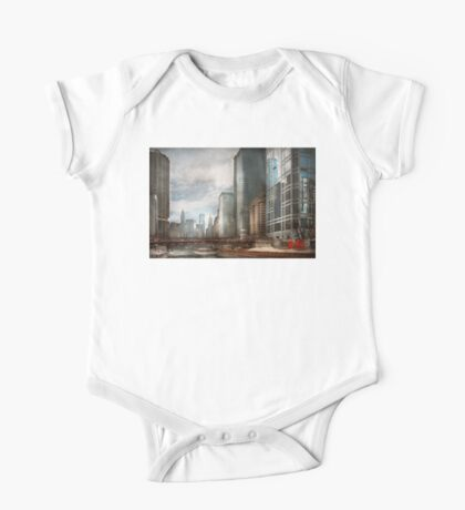 City - Chicago, IL -  Building a new city One Piece - Short Sleeve
