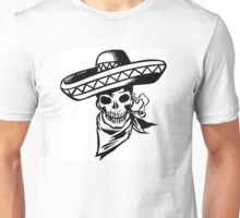 sombrero skull Unisex T-Shirt