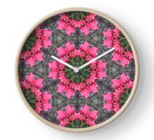 Pink Tulip Planet Clock