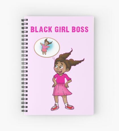 Black Girl Boss Mia the 8 year old Business Owner  Spiral Notebook