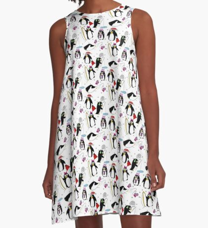 Penguin for fun A-Line Dress