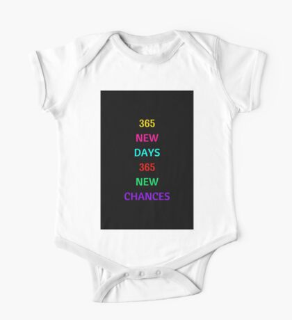 365 new days - Happy New Year! One Piece - Short Sleeve