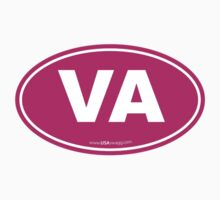 Virginia VA Euro Oval PINK by USAswagg2