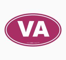 Virginia VA Euro Oval PINK Kids Clothes