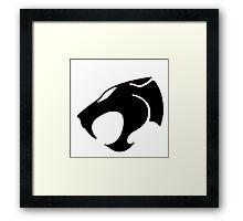 Logo Black Lion Framed Print