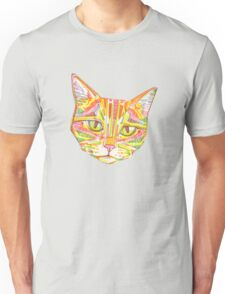 Red and yellow cat drawing - 2016 Unisex T-Shirt