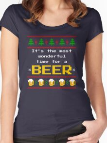 Ugly Christmas Sweater - Beer Women's Fitted Scoop T-Shirt
