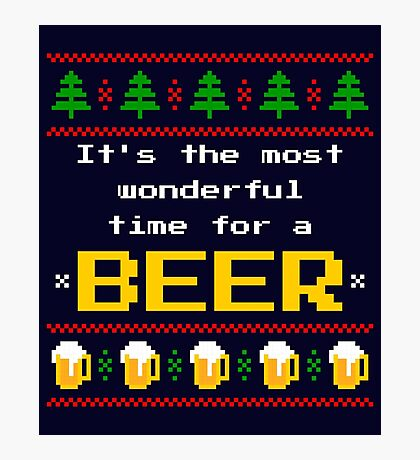 Ugly Christmas Sweater - Beer Photographic Print