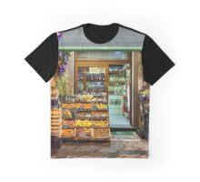 Cortona Tuscany fruit stand Graphic T-Shirt