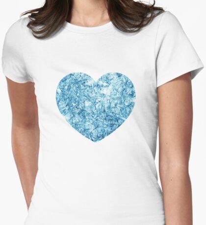 Frozen Heart Womens Fitted T-Shirt