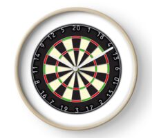 DARTS, Dart Board, Arrows, Target, Bulls eye, Pub, Game, on Black Clock