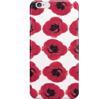 3 Red Poppies  iPhone Case/Skin