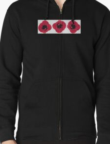3 Red Poppies  T-Shirt