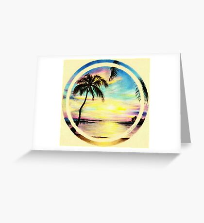 Summer Sunset by the Sea Greeting Card