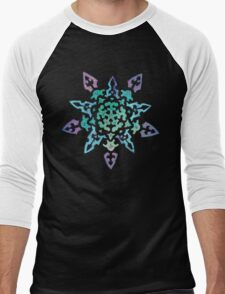 Snowflake Mandala Men's Baseball ¾ T-Shirt