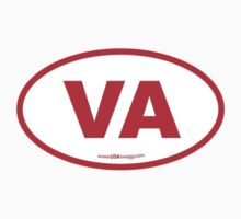 Virginia VA Euro Oval RED by USAswagg2