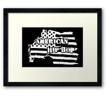 American Hip Hop (White) Framed Print
