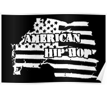 American Hip Hop (White) Poster
