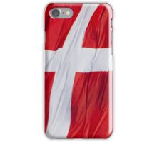 Waving Flag of Denmark From 2014 Winter Olympics iPhone Case/Skin