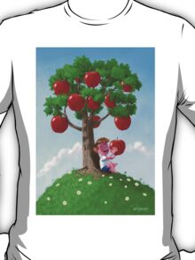 Boy with Apple Tree T-Shirt