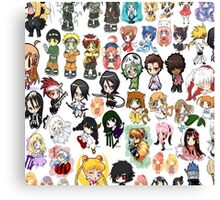 Chibi Anime Collection Canvas Print