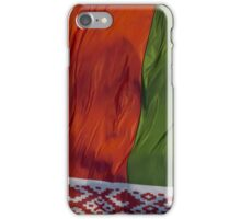 Waving Flag of Belarus From 2014 Winter Olympics iPhone Case/Skin