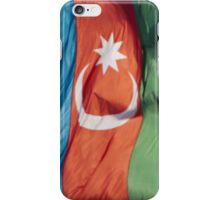 Waving Flag of Azerbaijan From 2014 Winter Olympics iPhone Case/Skin