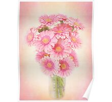 Beautifully staggered Bouquet of Daisies. Poster