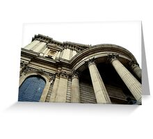 St. Paul's Cathedral Low Angle Greeting Card