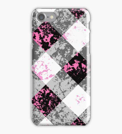 Schwarz-Weiß-Karo iPhone Case/Skin