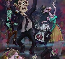 Cartoon Zombie Party by martyee