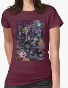 Cartoon Zombie Party Womens Fitted T-Shirt
