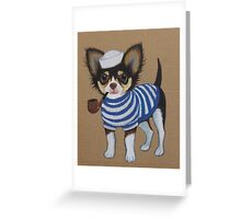 Sailor Chihuahua Greeting Card