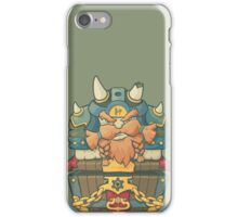 Cartoon styled dwarf sitting on the chest  iPhone Case/Skin