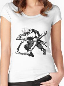 TOKYO GHOUL: Kaneki Kagune Vector Art  Women's Fitted Scoop T-Shirt