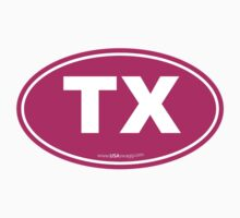 Texas TX Euro Oval PINK Kids Clothes