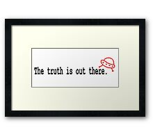 RED SAUCER - TRUTH IS OUT THERE Framed Print