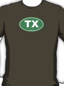Texas TX Euro Oval GREEN T-Shirt