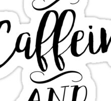 Motivated by Caffeine and Canines - For Coffee and Dog Lovers Sticker