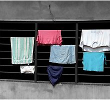 Clothes Drying on a Grate by Wayne King