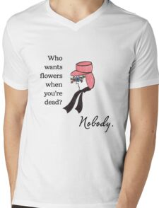 Who Wants Flowers? Mens V-Neck T-Shirt