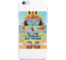 Muscle Beach Ad iPhone Case/Skin