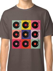Vinyl Record Pop Collage Classic T-Shirt
