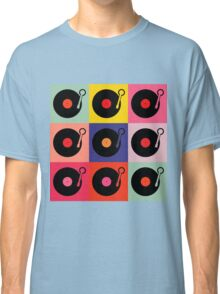 Vinyl Record Pop Collage Classic T-Shirt