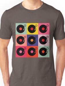 Vinyl Record Pop Collage Unisex T-Shirt
